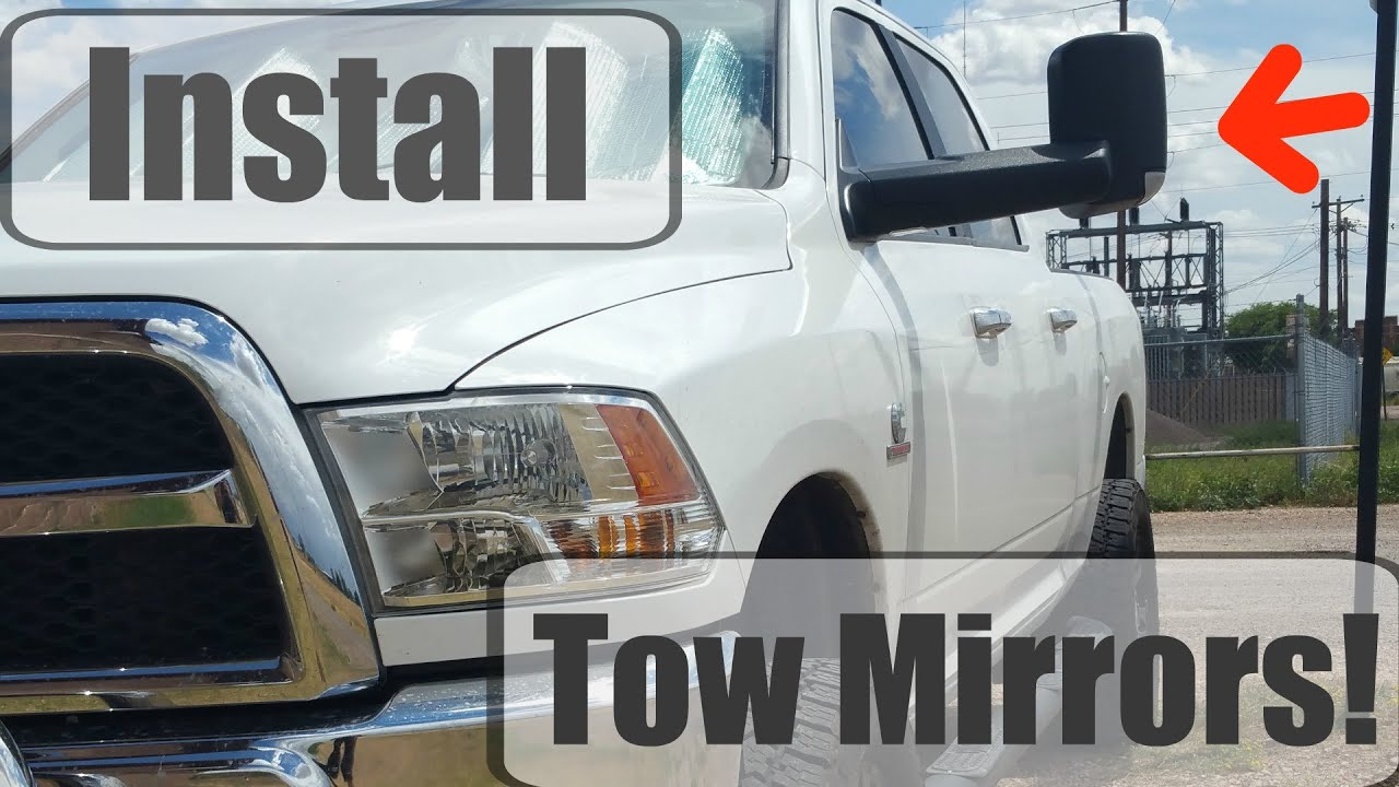 hight resolution of dodge tow mirrors review install for 2013 2016 ram youtube mopar towing mirrors wiring diagram