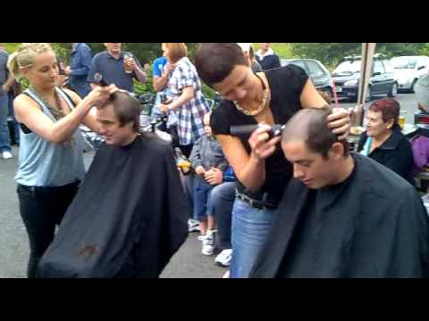 Charity Hair Shaving Gav and Lee in Merthyr