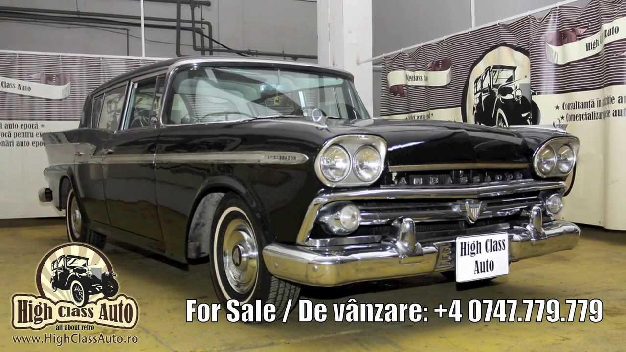 Amc rambler ambassador 1959 for sale de vanzare high class auto romania masini de epoca