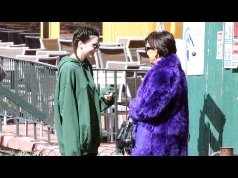 Kendall Jenner With Braids Goes On Shopping Spree With Kris Jenner In Vail, Colorado thumbnail
