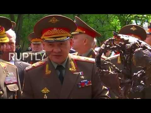Russia: Shoigu lays foundations for a monument to WW2 soldiers in Moscow