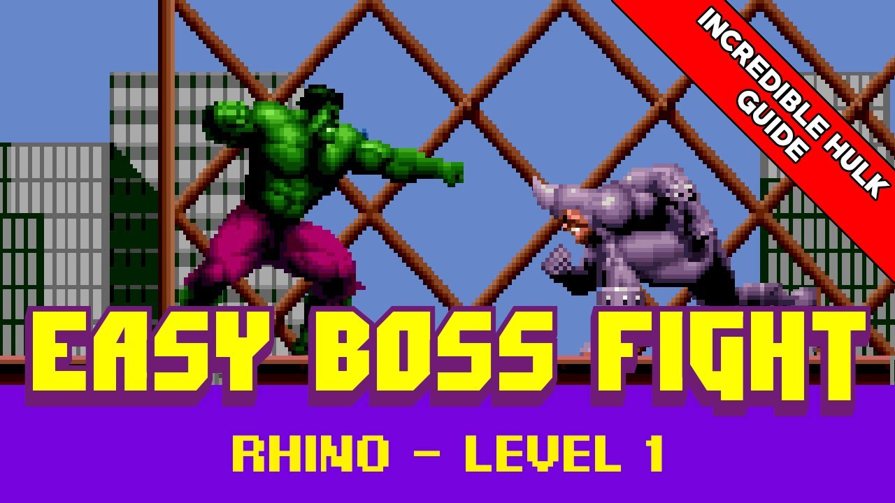 Easy Boss Fight Guide - The Incredible Hulk Rhino - Level 1