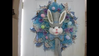 Carmen's 2019 Blue Jean, Easter Bunny Wreath