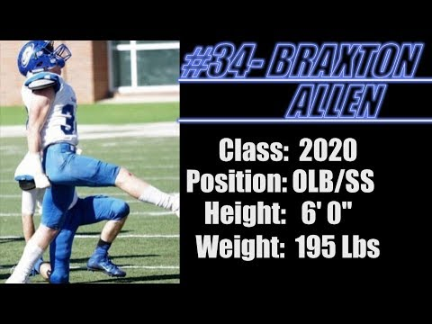 2020-Street Light Recruiting- JR Film- LB/SS-Braxton Allen (6' 0''/195)- Chambers Academy (AL)