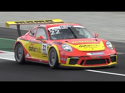 Porsche 911 GT3 Cup (991 MkII) Sound On Track - 2017 Porsche Mobil1 Supercup Tests
