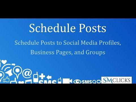 Schedule posts to social media profiles, business pages, and groups - including LinkedIn Groups
