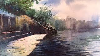 Watercolor Painting demonstration in loose technique by Prashant Sarkar.