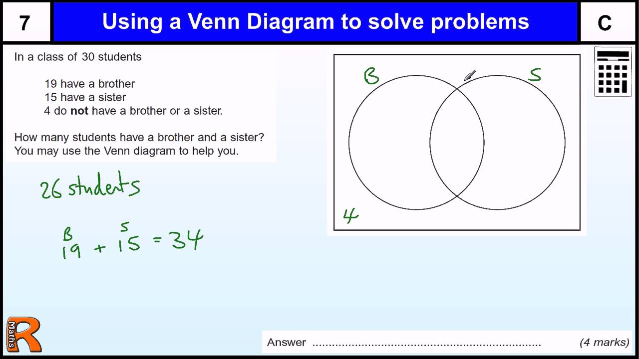 how to solve venn diagram visual studio 2013 generate class a problem gcse maths revision exam paper practice & help - youtube