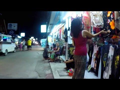 Ko Lanta, Thailand: The Night Scene in a Small Village