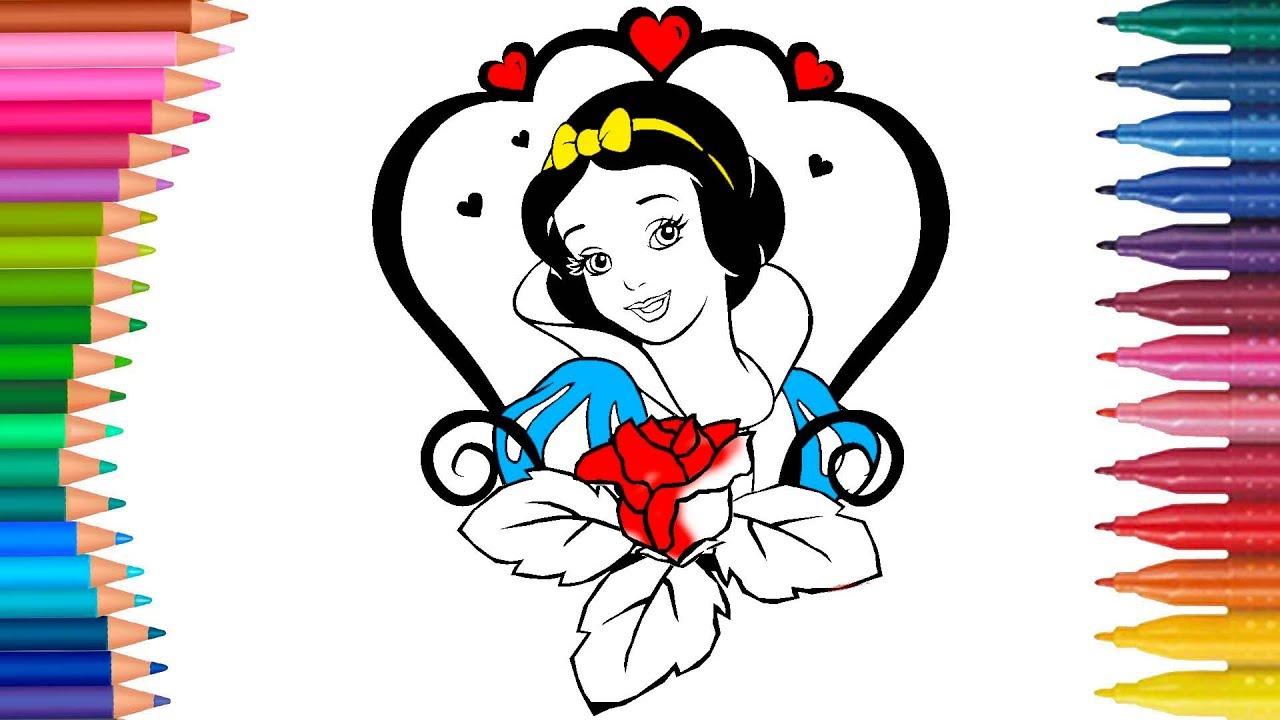 Snow White Cizgi Film Ve Masal Karakteri Boyama Sayfasi Minik