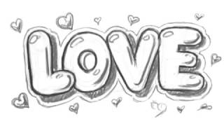 How to Draw Love in Bubble Letters - Write Love in Graffit Letters | MAT