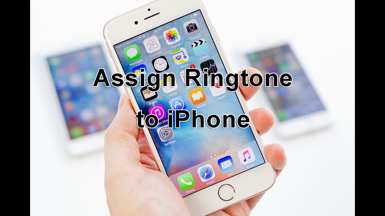 iphone assign ringtone