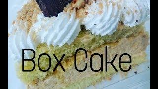 Cake box/Slice Cake/Bolo em fatia Amendocrem