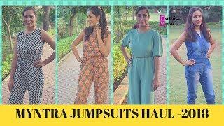 MYNTRA JUMPSUITS HAUL 2018 || LATEST JUMSUITS HAUL || FASHIONVIEWCHETNA