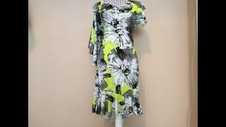 Платье с воланом/Как пришить волан к низу платья