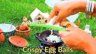 Miniature cooking   Nombuthura recipes   Miniature Egg balls   Evening Snacks recipe   Indian food