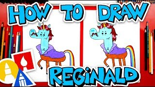 How To Draw Reginald The Unicorn From Cupcake And Dino