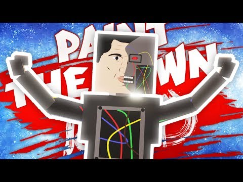 SPOOKY ROBOT FACTORY IN PAINT THE TOWN RED Paint the Town Red Funny Gameplay