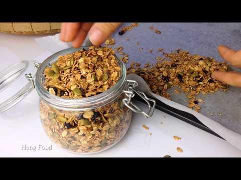 Cách Làm Ngũ Cốc Yến Mạch Giảm Cân (Granola)| How To Make Granola With Oats|Hang Food | Foci