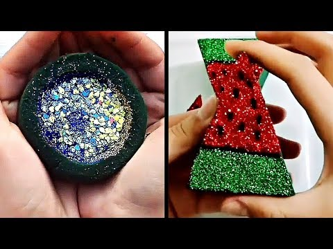 The most satisfying foam crushing video in the world - floral foam satisfying sounds