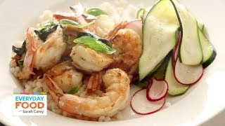 Lemon-basil Shrimp With Shaved Zucchini Salad | Everyday Food With Sarah Carey