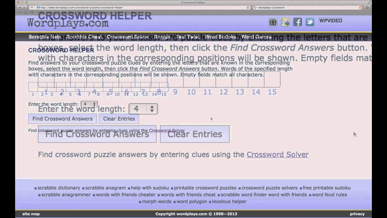 Image Result For Crossword Solver Wordplays