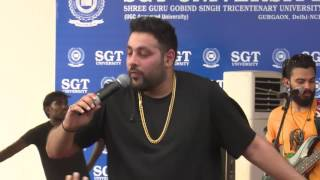 "D.J.wale babu mera gana chala do ""Badshah"" At SGT University"