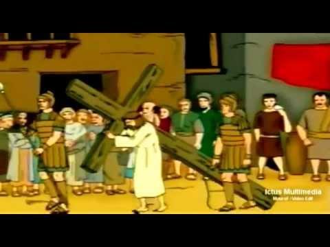 Arresto juicio muerte y resurreccin de Jess Dibujos animados