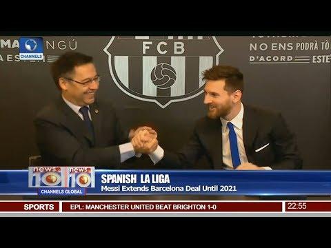 Messi Extends Barcelona Deal Until 2021 Pt.4 |News@10| 25/11/17