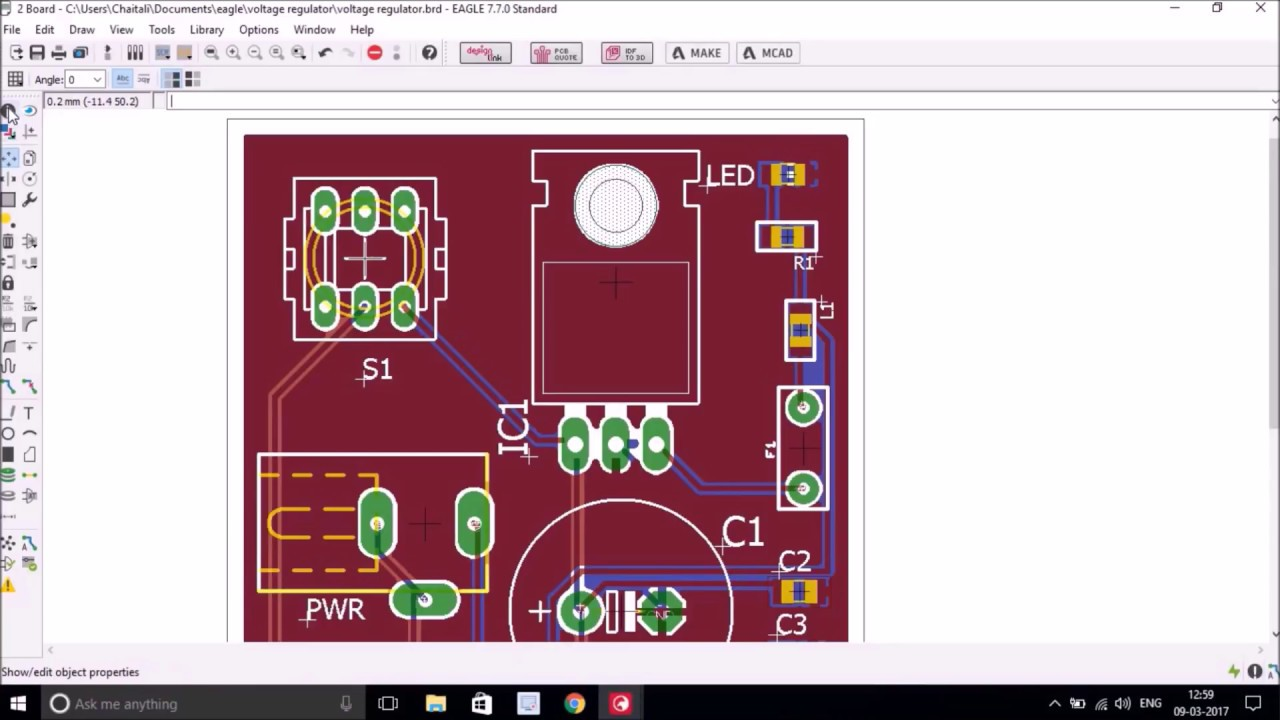 Board Layout With Eagle Pcb Design Tool Youtube