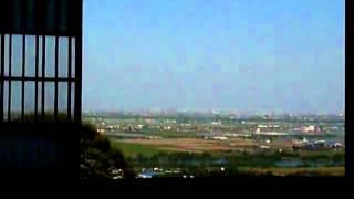 岐阜県海津市にある行基寺書院からの眺望。濃尾平野一帯を眺めることが...