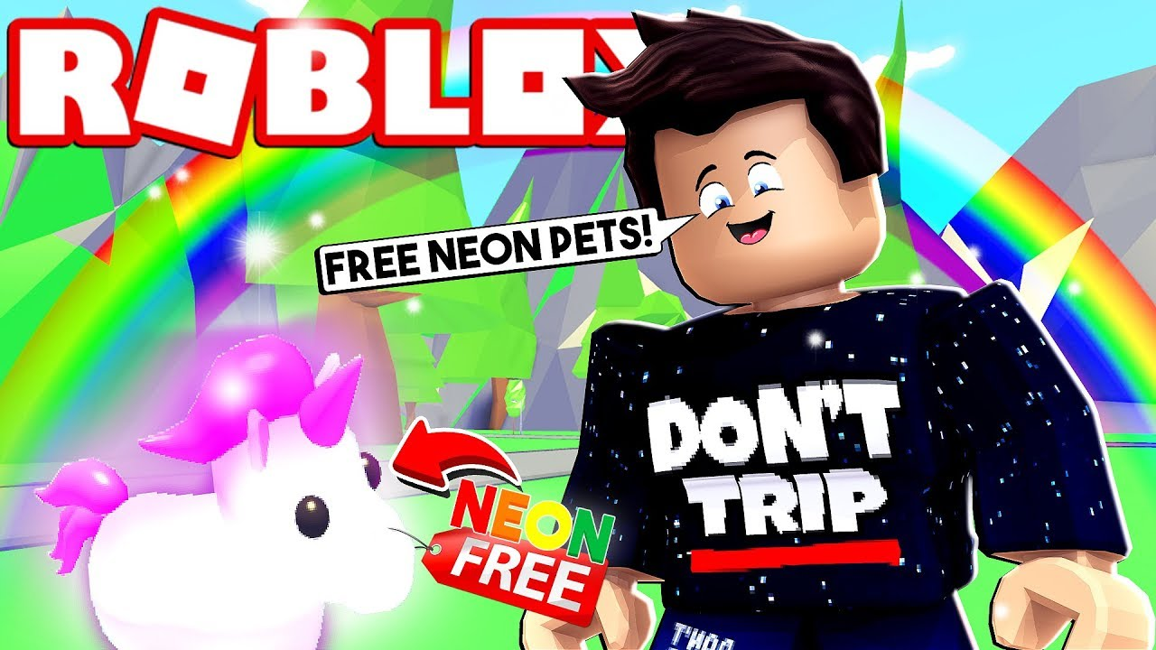How To Get A Free Neon Unicorn Pet In Roblox Adopt Me Youtube