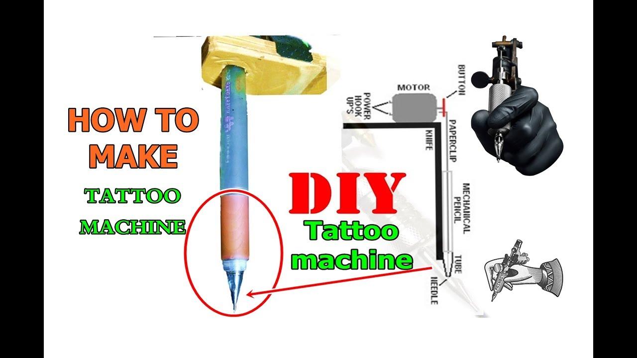 How to make a tattoo gun homemade tutorial youtube for How to assemble tattoo gun
