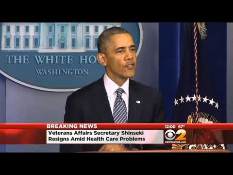 Shinseki Resigns Amid Veterans' Health Care Issues