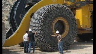 Установка цепи на огромное колесо за 80 000 долларов!