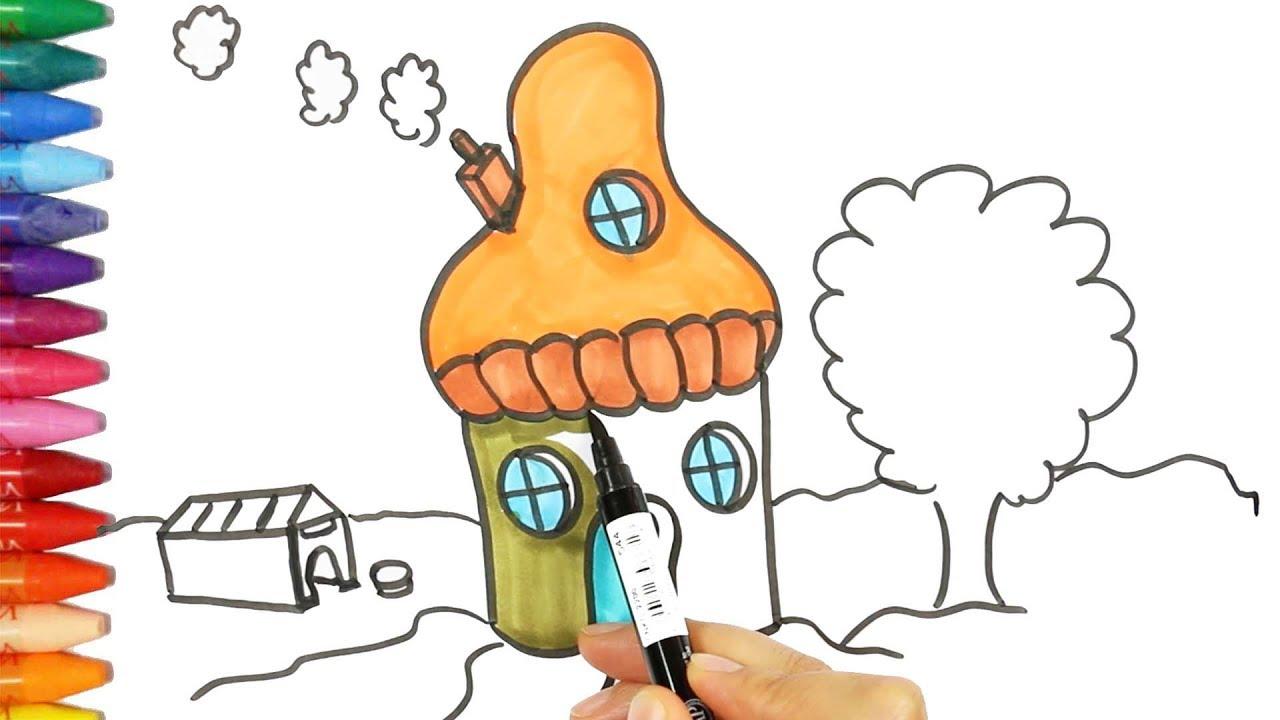 Bagaimana Menggambar Dan Mewarnai Jamur Cara Menggambar Dan Mewarnai TV Anak