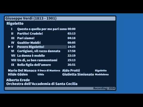 Giuseppe  Verdi Rigoletto - Mario Del Monaco 1954