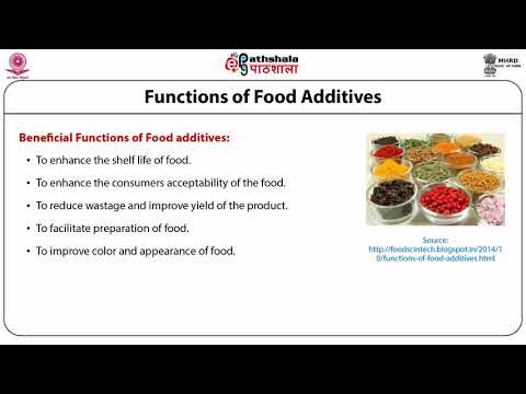 Introduction to food additives