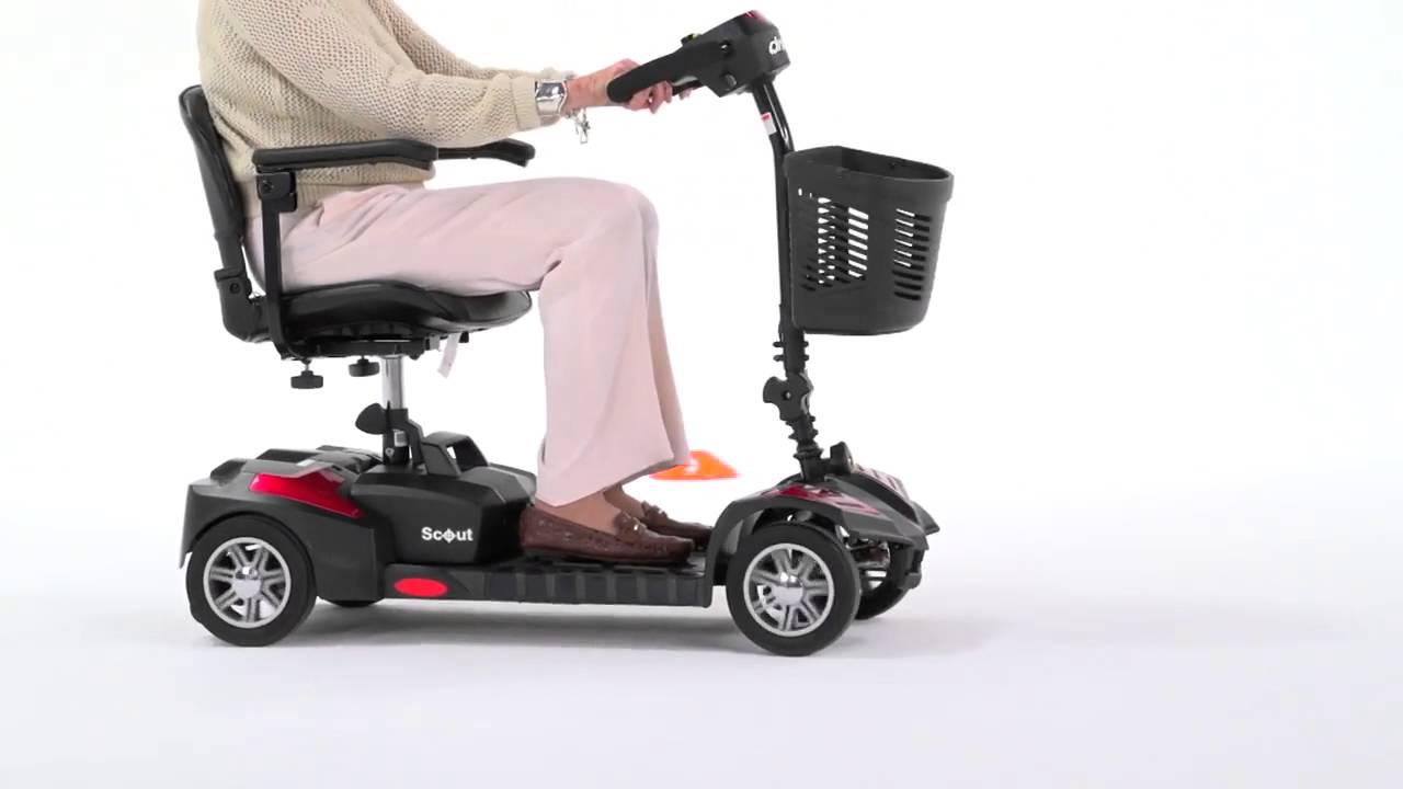 Scout Deluxe 4 Wheel Compact Travel Scooter by Drive Medical