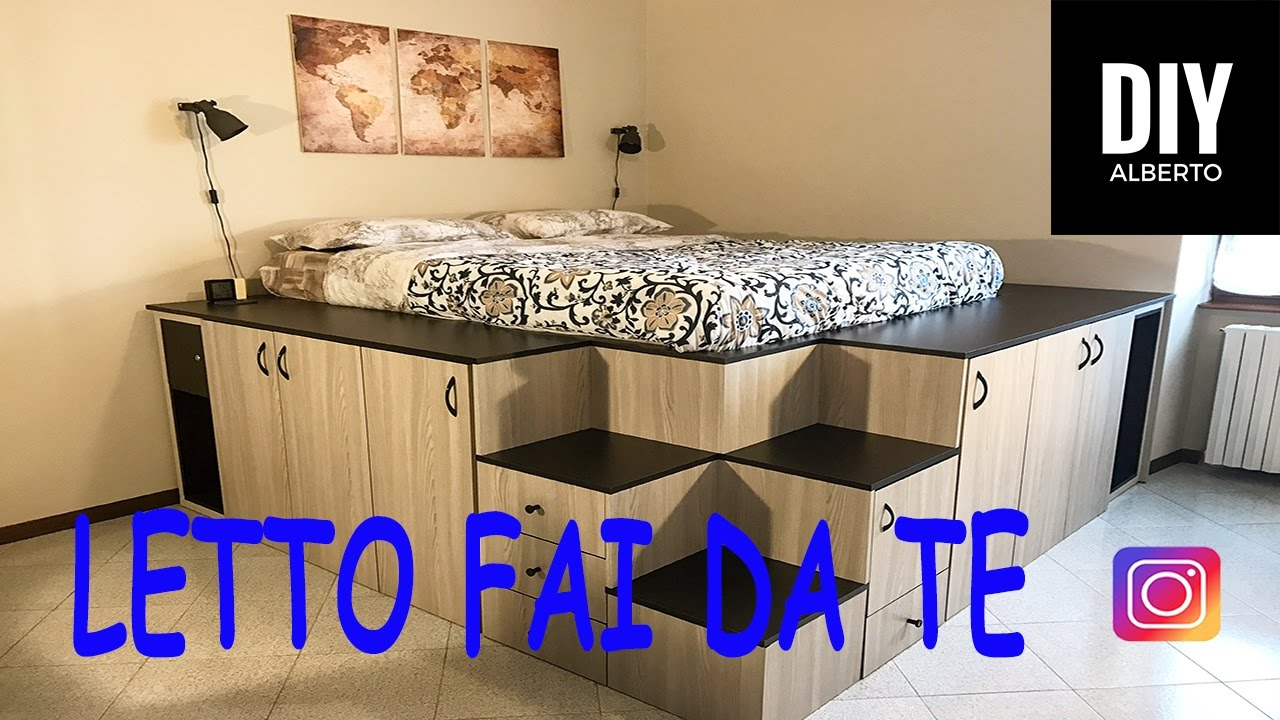 Letto rialzato fai da te diy youtube for Pistone idraulico fai da te
