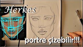 Portre nasıl çizilir?  portreyegiriş1 Taslak oluşturma