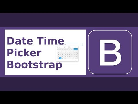 Date Time Picker With Bootstrap (Full Featured)