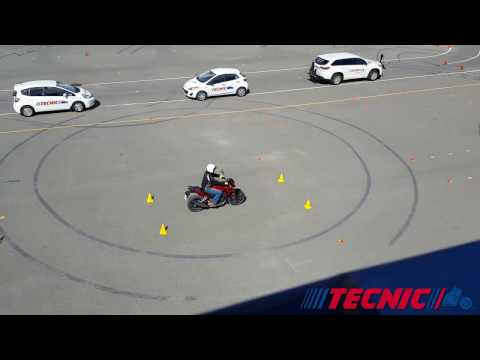 Example of Motorcycle closed-course exam - Tecnic Driving School