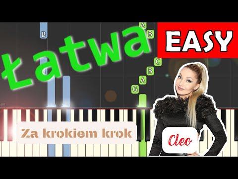 🎹 Za krokiem krok (Cleo) - Piano Tutorial (łatwa wersja) 🎹