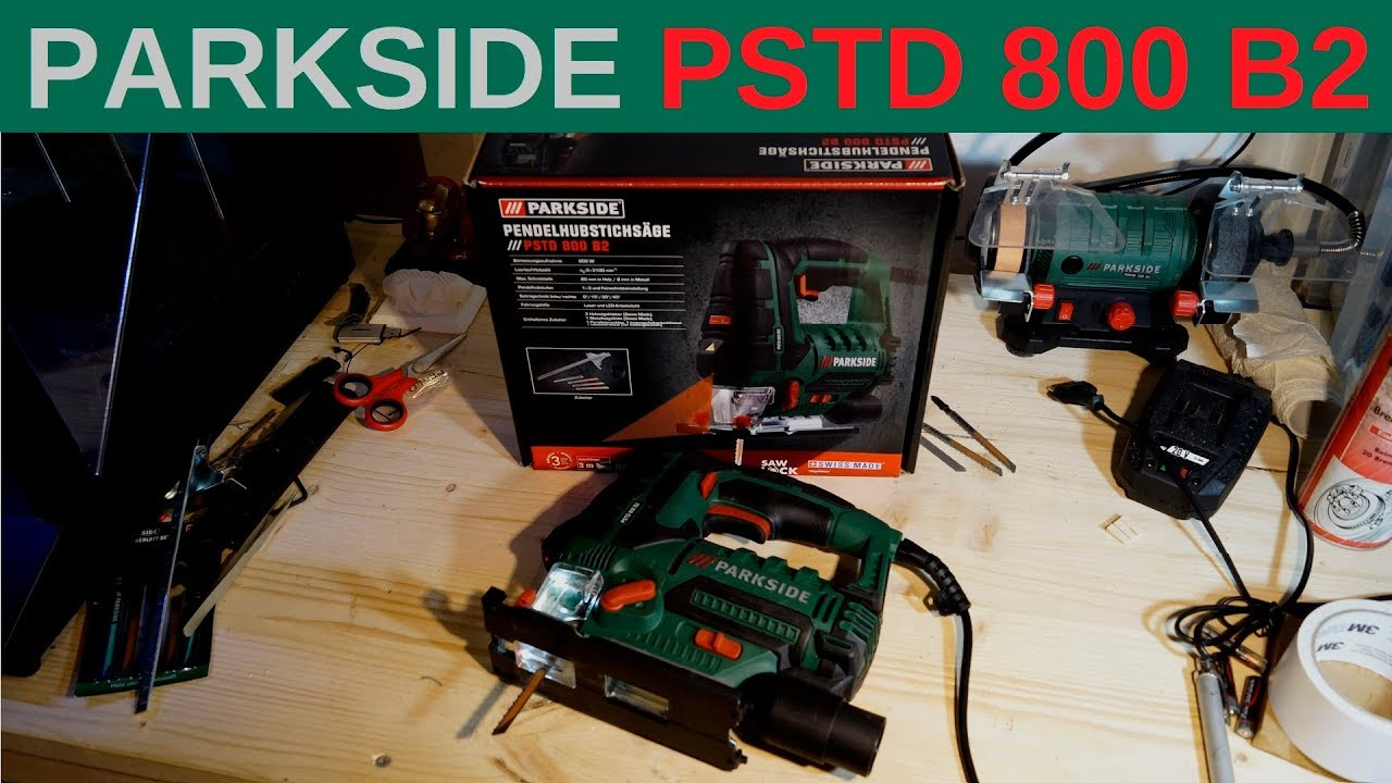 PARKSIDE® Pendelhubstichsäge Stichsäge PSTD800 B2 Pendel Hub Stich Säge 800W