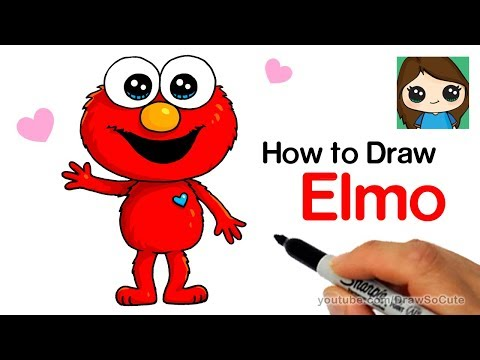How To Draw Elmo Easy And Cute Youtube