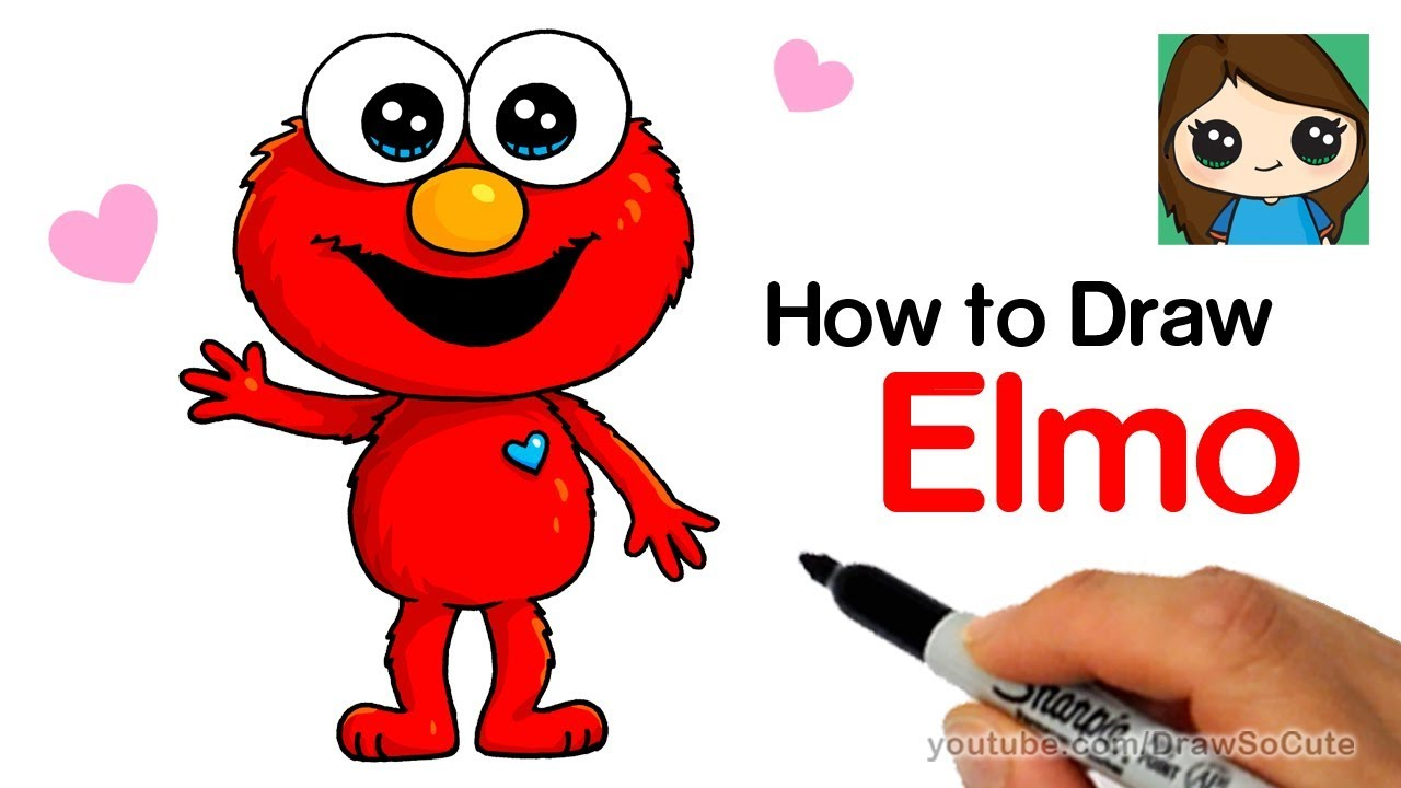 Elmo cute pictures wallpaper images for How to draw a cute house