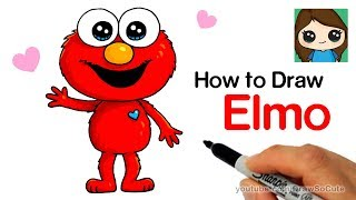 How to Draw Elmo Easy and Cute