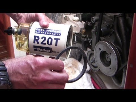 How to change fuel filters and bleed air in a Yanmar marine