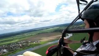 Paraglide flight Rublevka near Zvenigorod